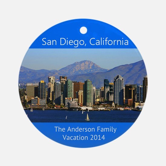 San Diego California Personalized Ornament (round)