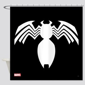 Venom Symbol Shower Curtain