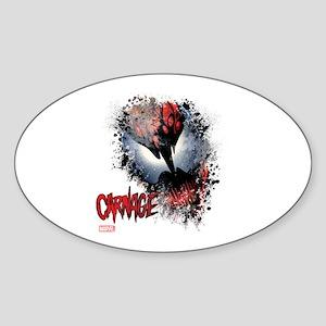 Carnage Face Sticker (Oval)