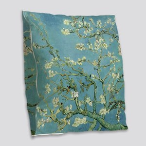 Van Gogh Almond blossom Burlap Throw Pillow
