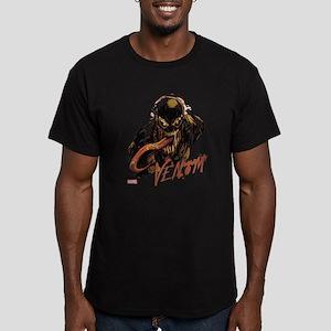 Abstract Venom Men's Fitted T-Shirt (dark)