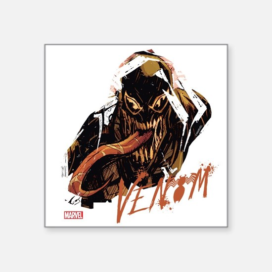 """Abstract Venom Square Sticker 3"""" x 3"""""""