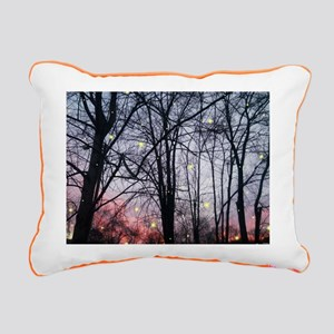 Fireflies Rectangular Canvas Pillow