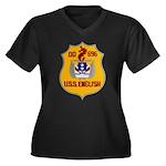 USS ENGLISH Women's Plus Size V-Neck Dark T-Shirt