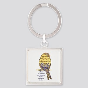Music in the Soul quote Music Note Bird Keychains