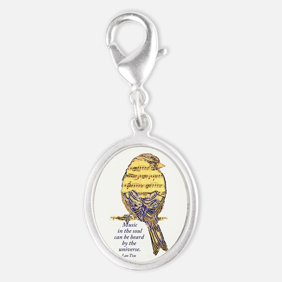Music in the Soul quote Music Note Bird Charms