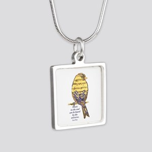 Music In The Soul Quote Music Note Bird Necklaces