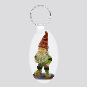 The Rolling Gnome Aluminum Oval Keychain