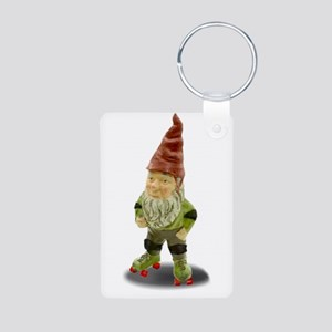 The Rolling Gnome Aluminum Photo Keychain