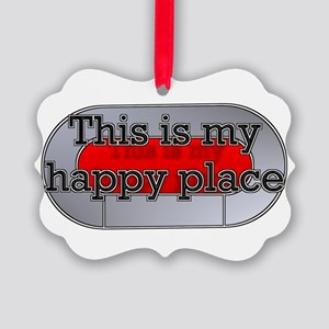 This is my happy place Picture Ornament