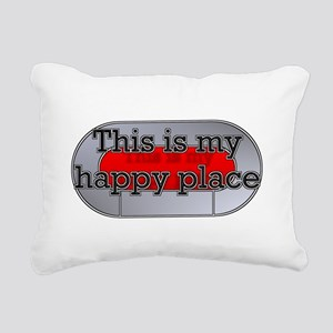 This is my happy place Rectangular Canvas Pillow