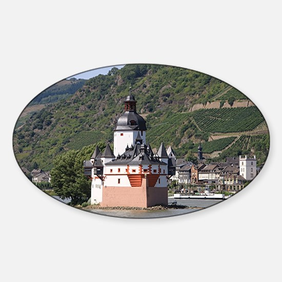 Pfalzgrafenstein castle, Rhine Rive Sticker (Oval)