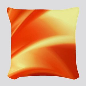 Orange Flush Woven Throw Pillow