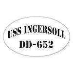 USS INGERSOLL Sticker (Oval)