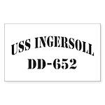 USS INGERSOLL Sticker (Rectangle)