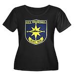USS INGE Women's Plus Size Scoop Neck Dark T-Shirt