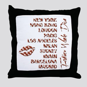 FASHION WEEK DIVA Throw Pillow