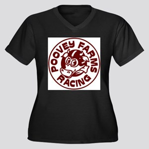 Poovey Farms Racing Plus Size T-Shirt