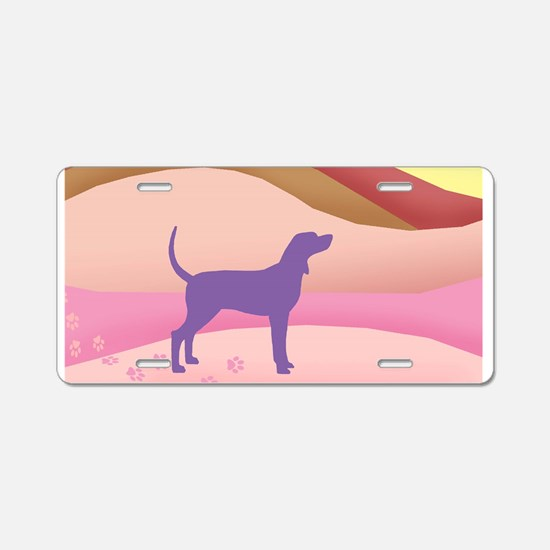 Pink Hills Coonhound (with Aluminum License Plate