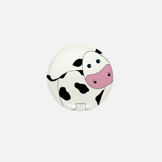 Cute Black and White Cow Mini Button
