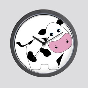 Cute Black and White Cow Wall Clock