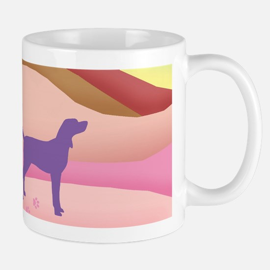 Pink Hills Coonhound (with purple hound Mug