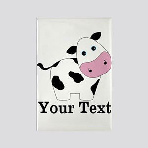 Personalizable Black White Cow Magnets