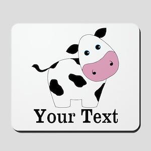 Personalizable Black White Cow Mousepad