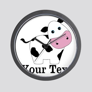 Personalizable Black White Cow Wall Clock