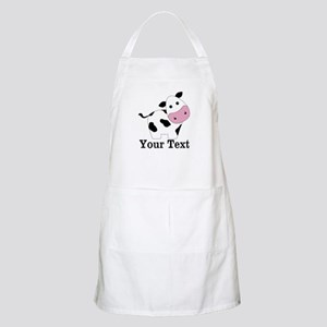 Personalizable Black White Cow Apron