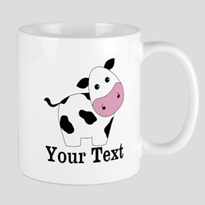 Personalizable Black White Cow Mugs