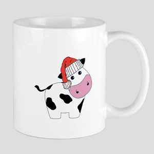 Christmas Cow Mugs