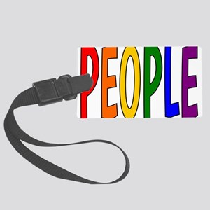 Rainbow People Large Luggage Tag