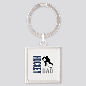Hockey Dad Square Keychain
