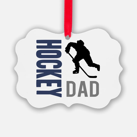Hockey Dad Picture Ornament