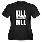Scamnesty Bill Women's Plus Size V-Neck Dark T-Shi