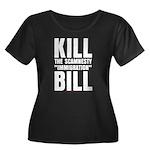 Scamnesty Bill Women's Plus Size Scoop Neck Dark T