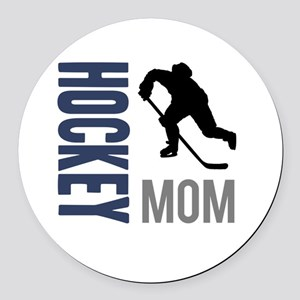 Hockey Mom Round Car Magnet