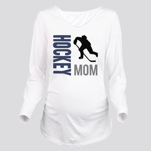 Hockey Mom Long Sleeve Maternity T-Shirt