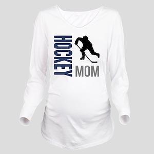 Hockey Mom Long Sleeve Maternity T-Shirt