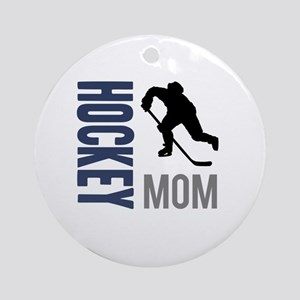Hockey Mom Round Ornament