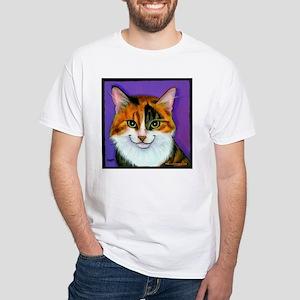 Calico Cat White T-Shirt