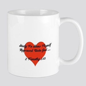 Study To Show Thyself Approved-Heart Mugs
