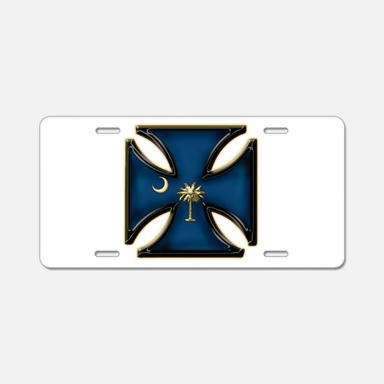 Irn Crs Sc Flag Gold.png Aluminum License Plate