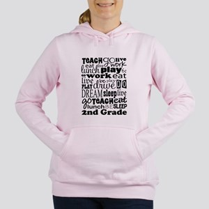 2nd Grade Teacher quote Women's Hooded Sweatshirt