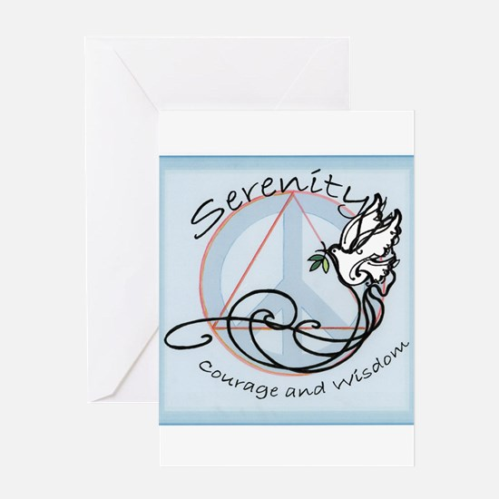 serenityDOVE001 Greeting Cards