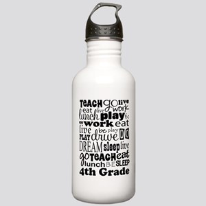 4th Grad Teacher quote Stainless Water Bottle 1.0L