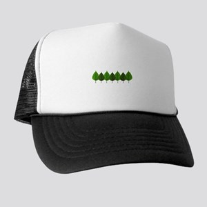 Happy Little Green Tree Leaf Forest Trucker Hat