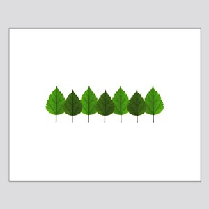 Happy Little Green Tree Leaf Forest Posters