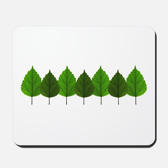 Happy Little Green Tree Leaf Forest Mousepad
